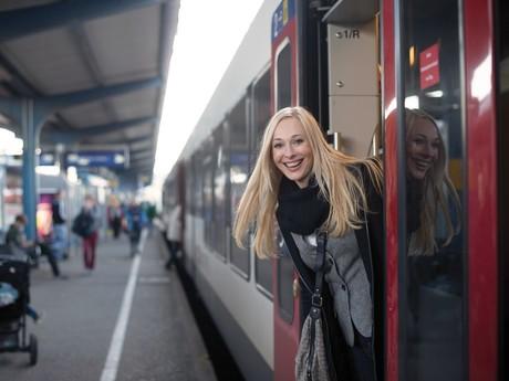 Seehas am Bahnhof BODENSEECARD WEST