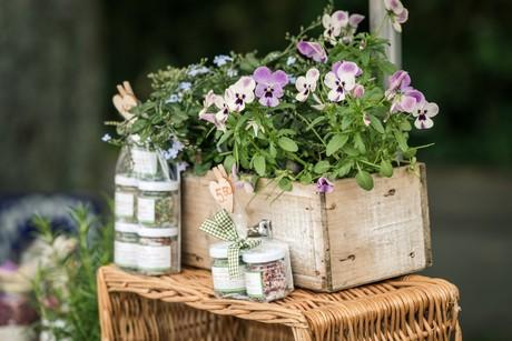 Essbare Blüten und Kräutersalz beim Radolfzeller Kräutermarkt
