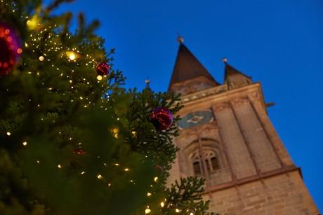 Weihnachtsbaum vor dem Radolfzeller Münster