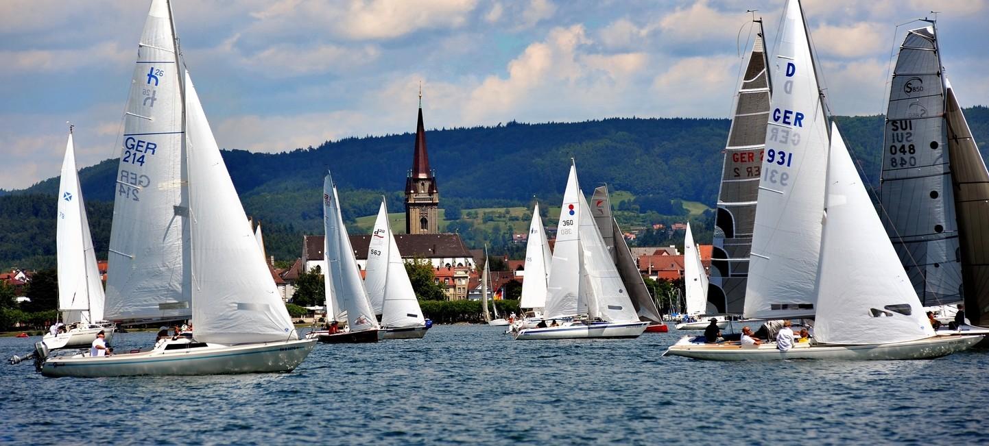 Segelboote vor Radolfzell