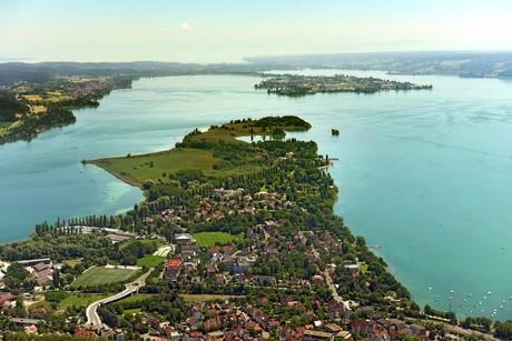 Halbinsel Mettnau und Reichenau aus der Vorgelperspektive