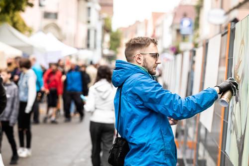 PR - Graffiti-Sprayer beim Radolfzeller Altstadtfest