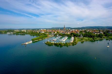 Blick auf Radolfzell am Bodensee