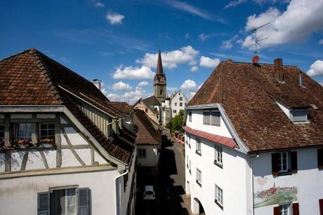 Blick vom Obertor Richtung Österreichisches Schlösschen und Münster