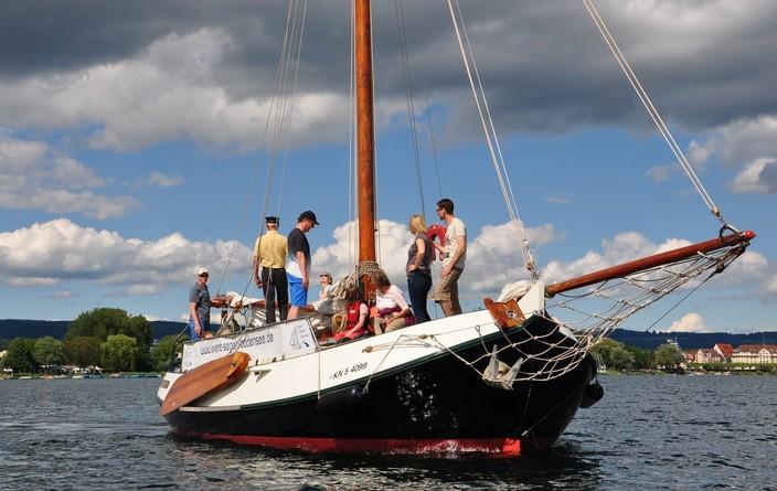 Bodensee-Segeln mit der Seewiefke.