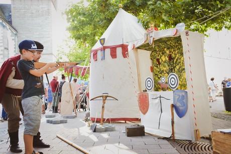 Thementag Mittelalter beim Radolfzeller Abendmarkt