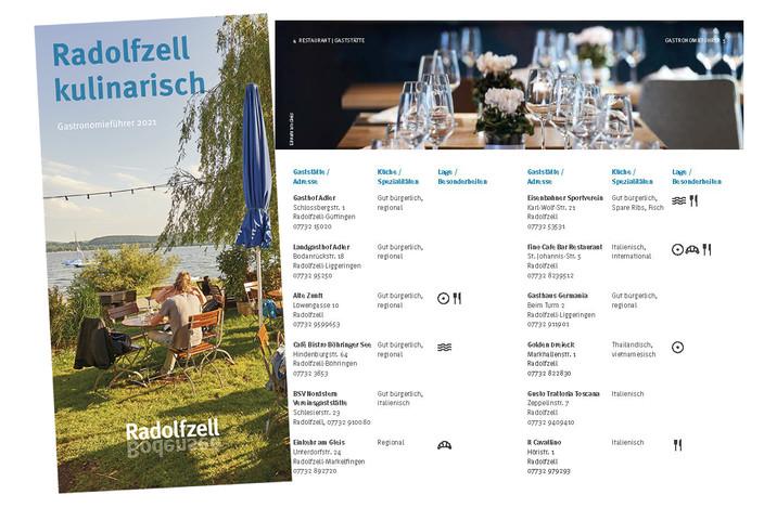 Die neue Broschüre gibt einen Überblick über das gastronomische Angebot der Bodenseestadt.